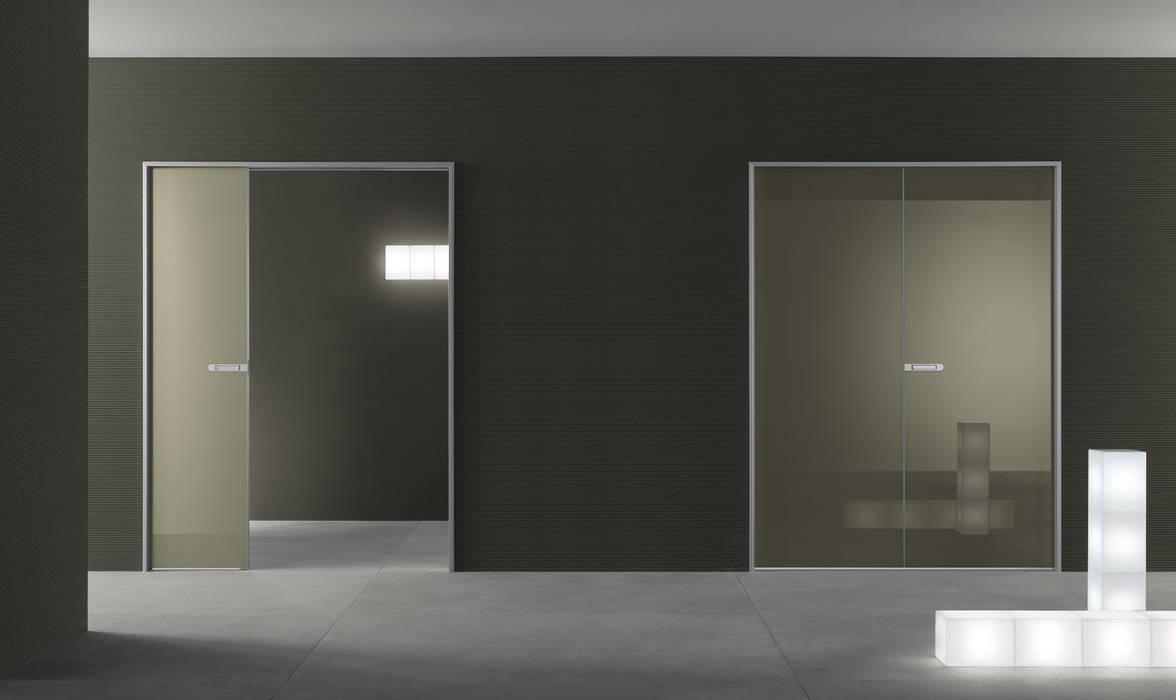Dubbele Schuifdeur In Wand.Moderne Dubbele Glazen Schuifdeuren In De Wand Op Maat Schuifdeuren