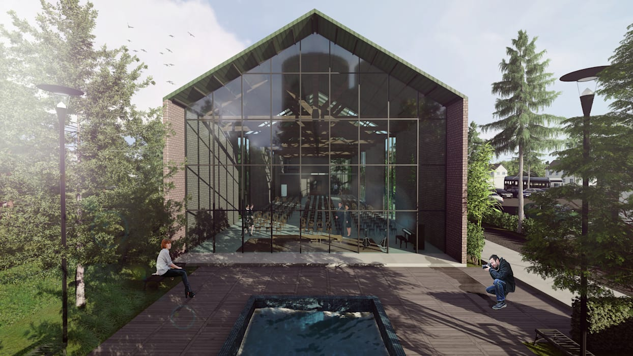 Ventanas de estilo  por Architet Studio , Mediterráneo Aluminio/Cinc