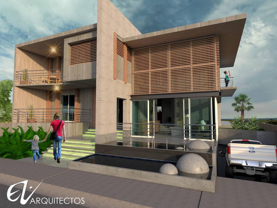 Rumah kayu oleh Eduardo Zamora arquitectos, Minimalis Beton