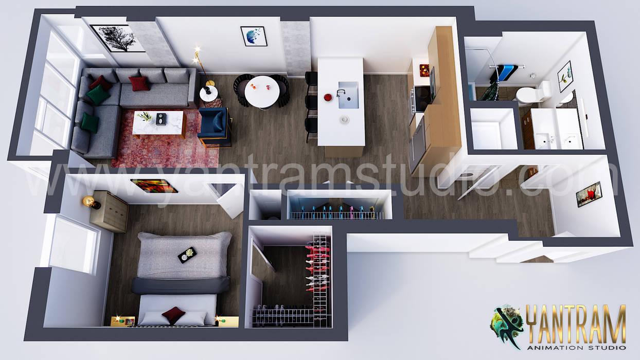 Modern Residential Floor Plan Designer Concept By Yantram 3d Architectural Animation Studio Vancouver Canada Yantram Architectural Design Studio Varandas Homify