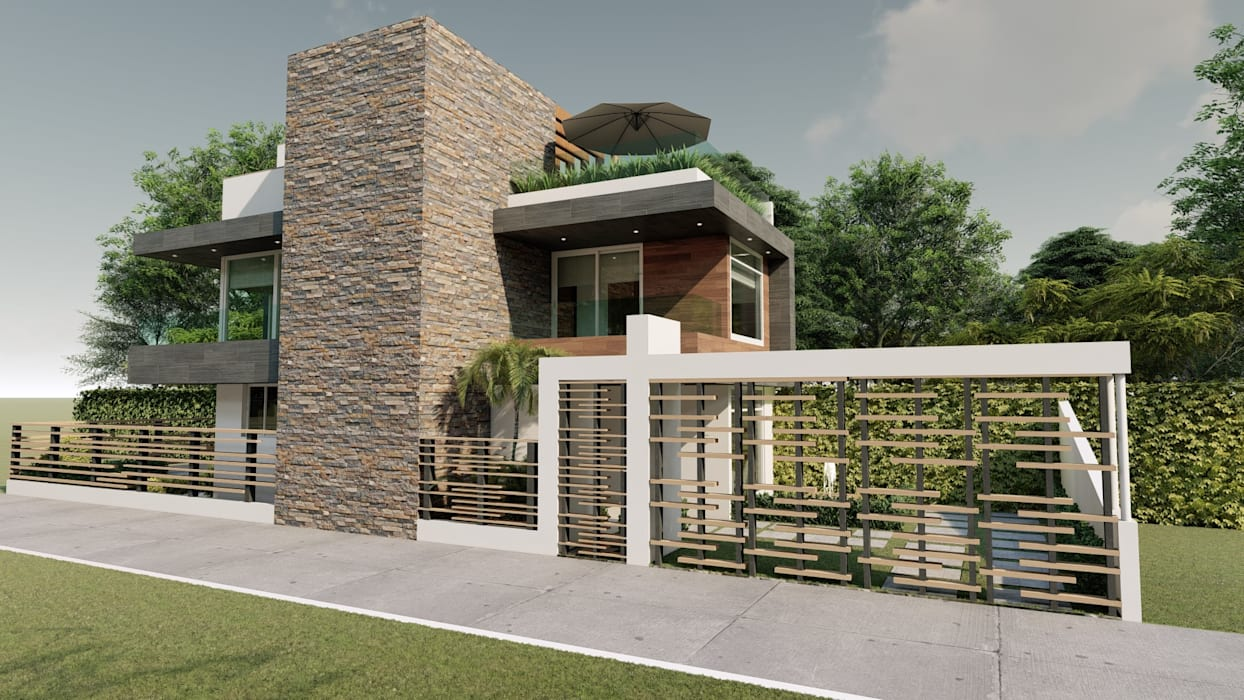 JG Casas modernas de DISARQ ARQUITECTOS. Moderno