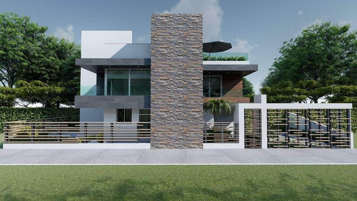 JG: Casas de estilo  por DISARQ ARQUITECTOS.