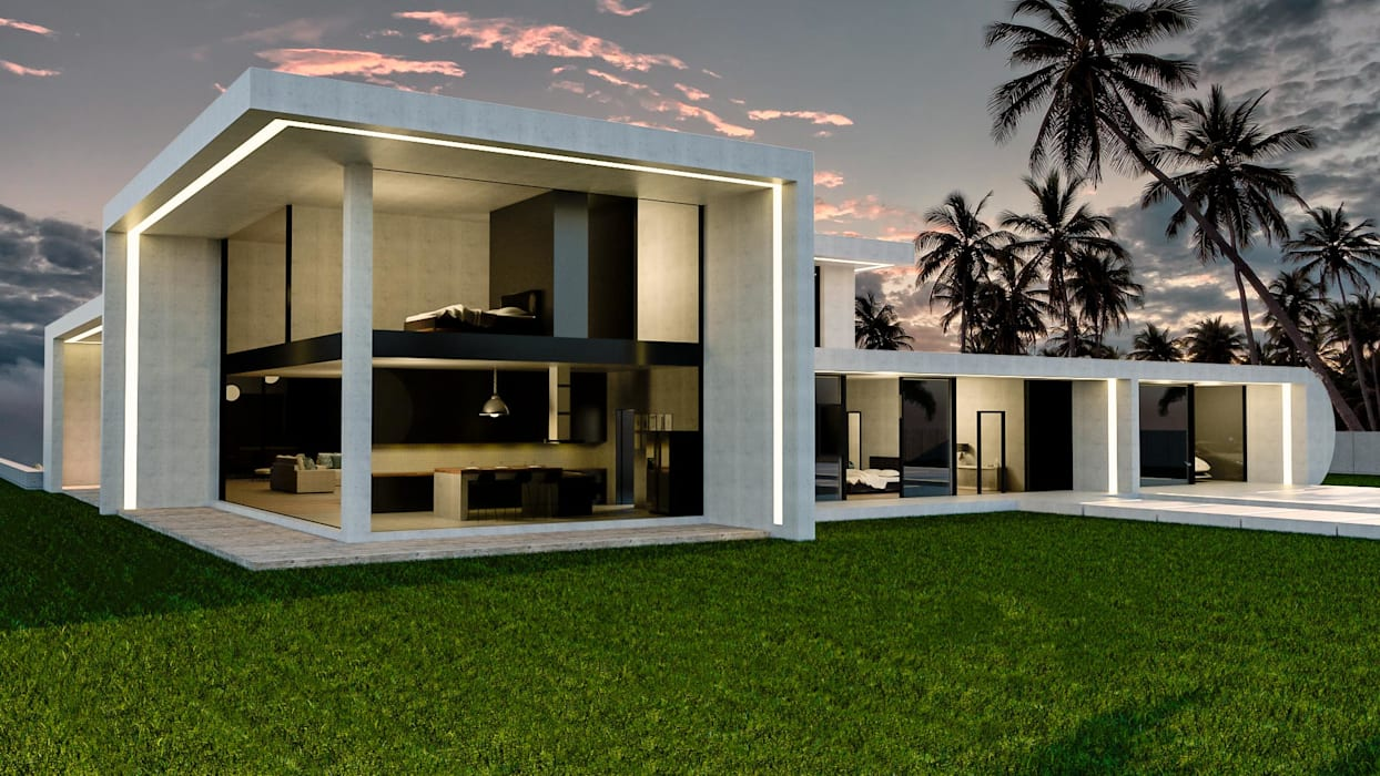 บ้านสำเร็จรูป โดย Trenta Casas Prefabricadas de Hormigón en Madrid, โมเดิร์น คอนกรีต