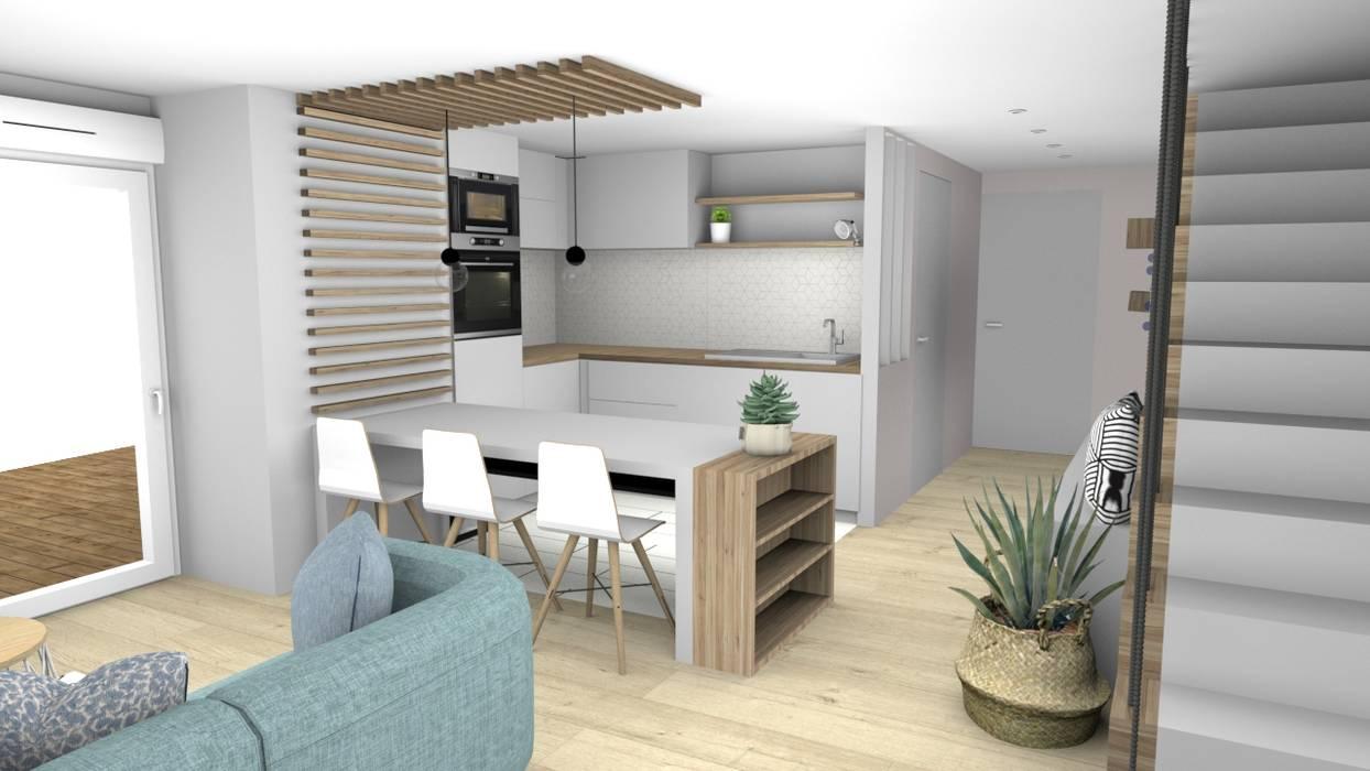 am nagement scandinave cuisine de style par la maison de. Black Bedroom Furniture Sets. Home Design Ideas
