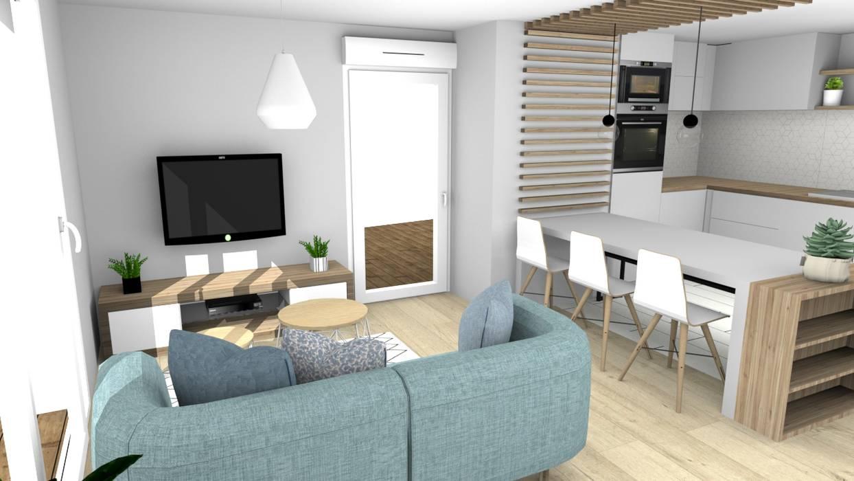 am nagement scandinave salon de style par la maison de. Black Bedroom Furniture Sets. Home Design Ideas