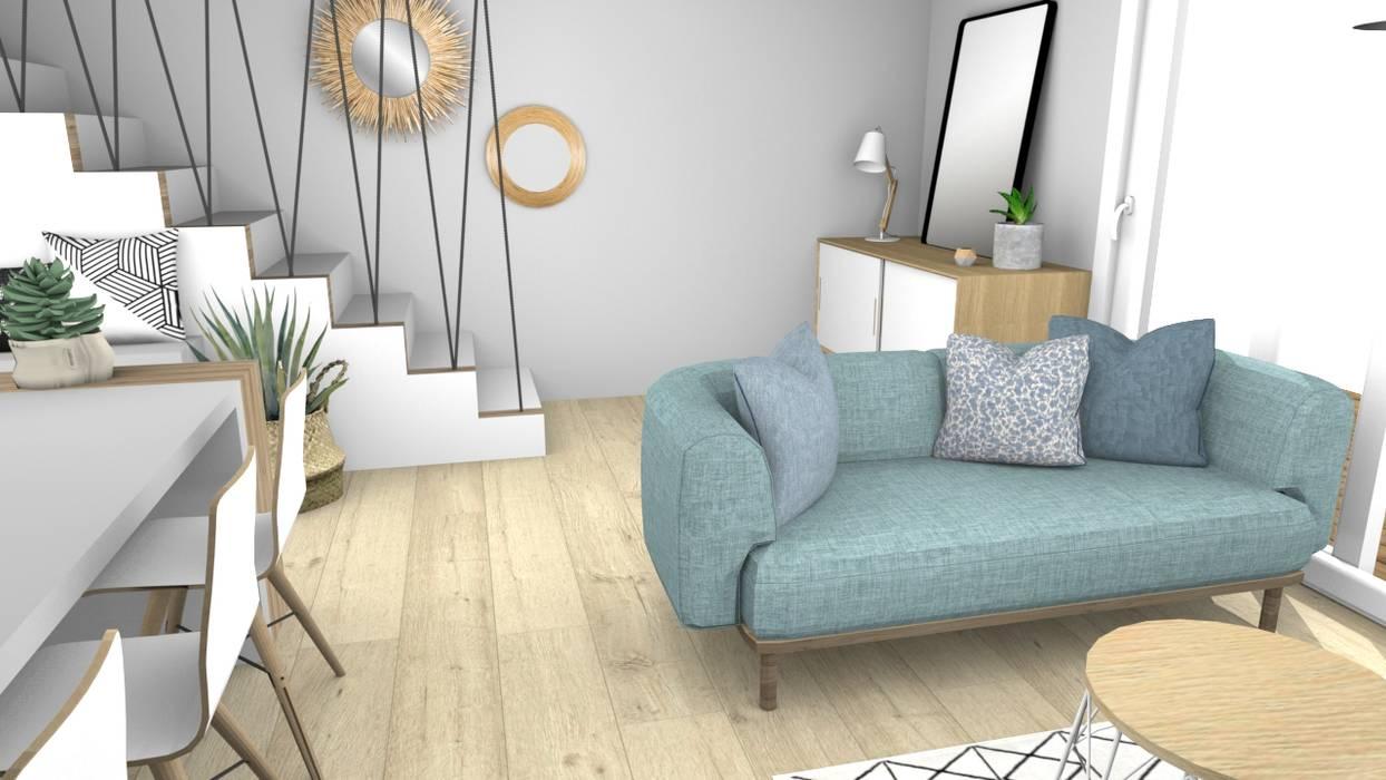 aménagement scandinave Salon scandinave par La Maison de Mon Père Scandinave Bois Effet bois