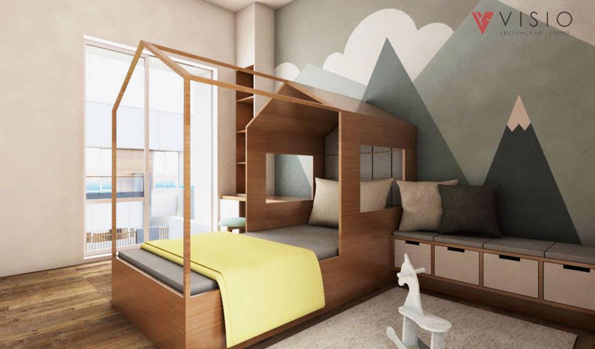 Tomang Residence: Kamar tidur kecil oleh PT VISIO GEMILANG ABADI,