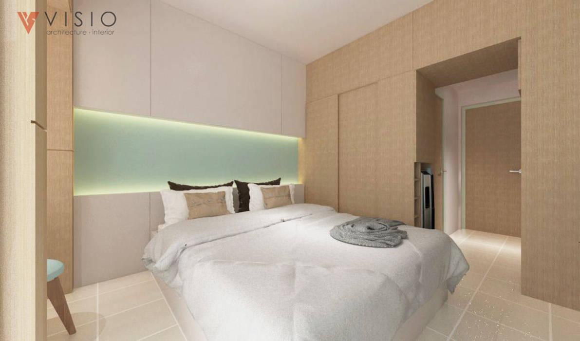 Ayodhya Apartment Kamar Tidur Minimalis Oleh PT VISIO GEMILANG ABADI Minimalis Kayu Buatan Transparent