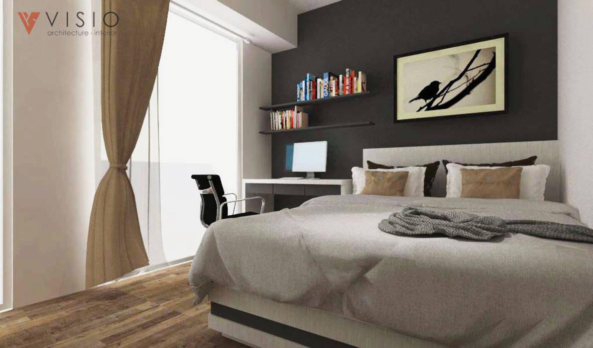Puri Orchard Apartment Kamar Tidur Minimalis Oleh PT VISIO GEMILANG ABADI Minimalis Kayu Lapis