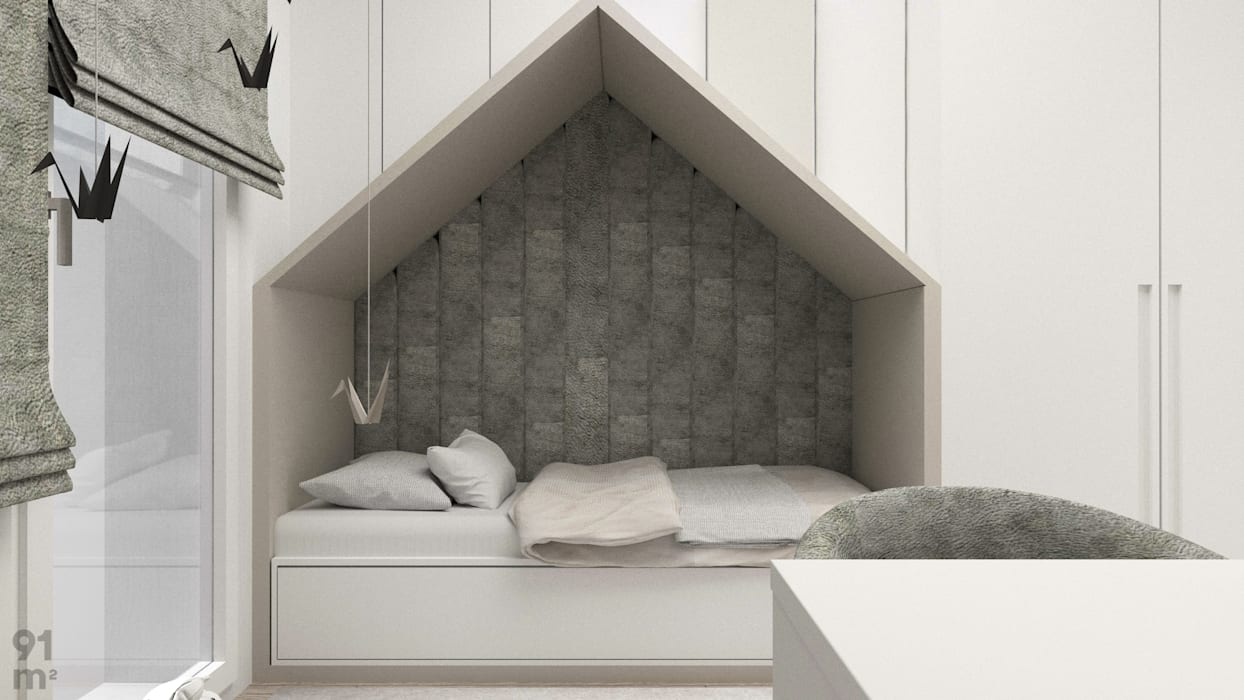 MWM_60m2: styl , w kategorii Pokój dla dziecka zaprojektowany przez 91m2 Architektura Wnętrz,Nowoczesny