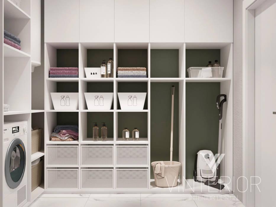 Квартира 3-х комнатная в современном стиле, ул. Дмитриевская Гараж в стиле минимализм от Vinterior - дизайн интерьера Минимализм