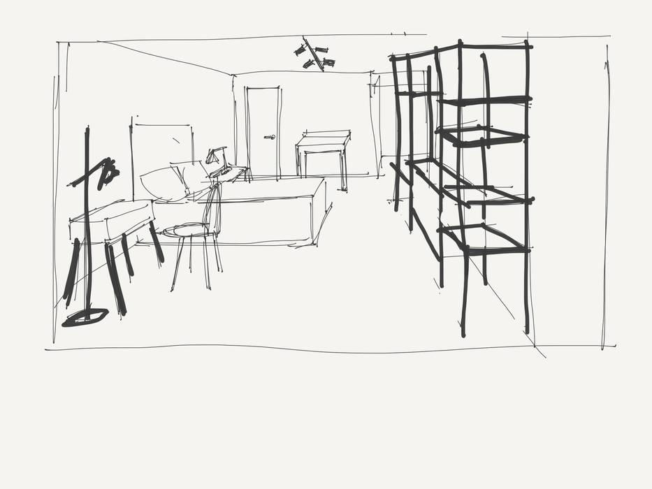 BOCETO | REFORMA KAA INTERIOR de Kaa Interior | Arquitectura de Interior | Santiago