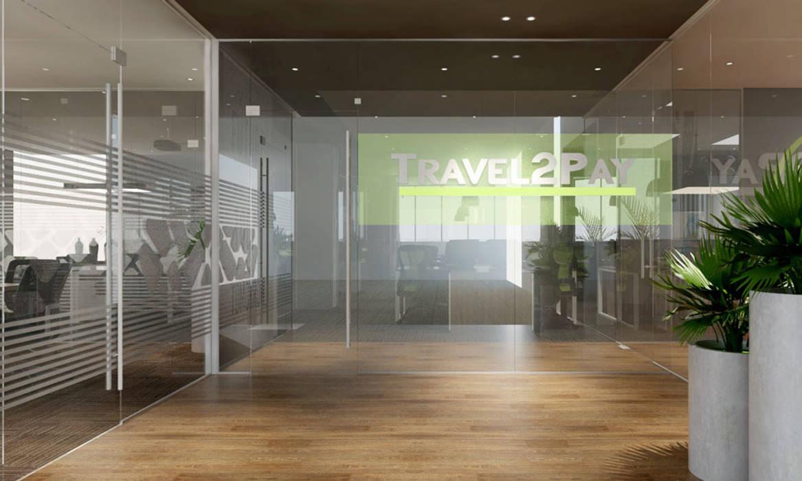 thiết kế nội thất văn phòng hiện đại HCM travel 2 Pay bởi công ty thiết kế văn phòng hiện đại CEEB Hiện đại