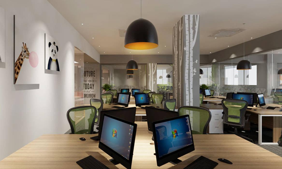 thiết kế nội thất văn phòng hiện đại HCM travel 2 Pay Phòng học/văn phòng phong cách hiện đại bởi công ty thiết kế văn phòng hiện đại CEEB Hiện đại