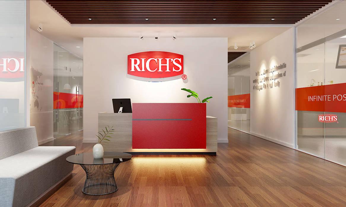 thiết kế văn phòng hiện đại RICH office sang trọng & độc đáo tại HCM bởi công ty thiết kế văn phòng hiện đại CEEB Hiện đại