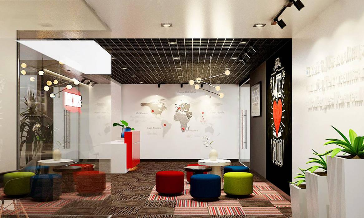 thiết kế văn phòng hiện đại RICH office sang trọng & độc đáo tại HCM Phòng giải trí phong cách hiện đại bởi công ty thiết kế văn phòng hiện đại CEEB Hiện đại