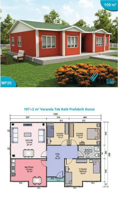 Multipan Prefabrik Endüstri – MP20:  tarz Prefabrik ev, Kırsal/Country