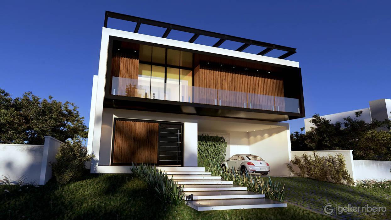 modern houses by Gelker Ribeiro Arquitetura | Arquiteto Rio de Janeiro Industrial Wood Wood effect
