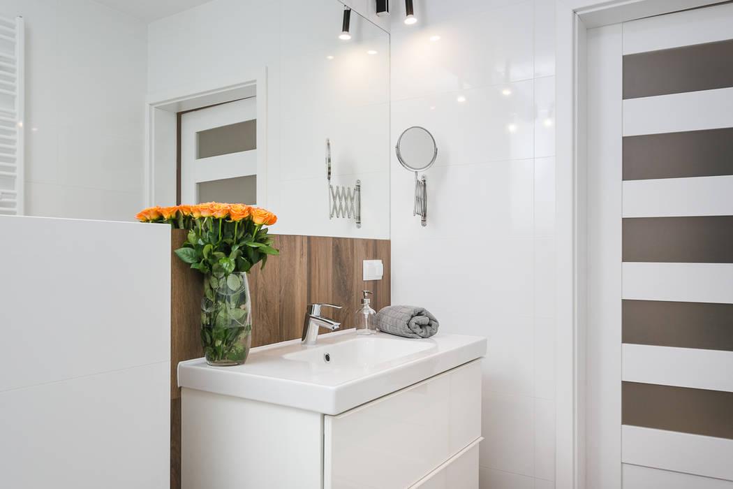 Łazienka w stylu industrialnym.: styl , w kategorii Łazienka zaprojektowany przez Justyna Lewicka Design,