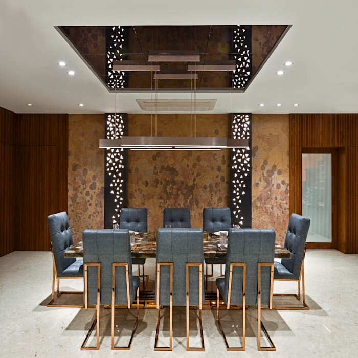 Rejuvenating Sundowner:  Dining room by Ar. Milind Pai,Modern