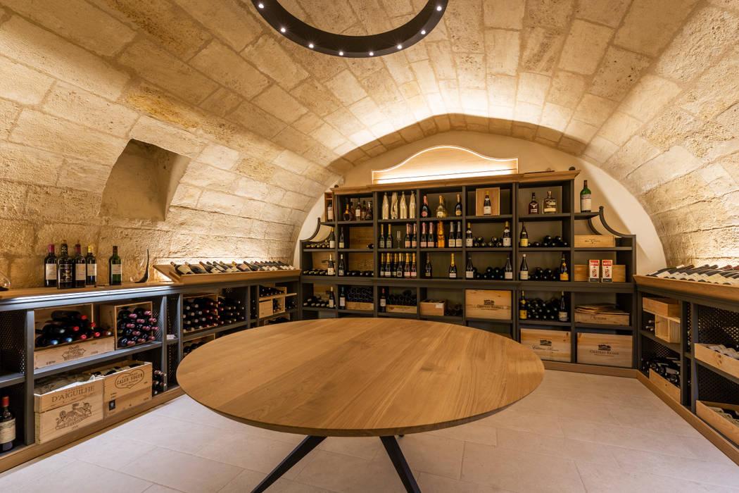 Restaurant de Dubern à Quanjude: Cave à vin de style  par 3759 Architecture