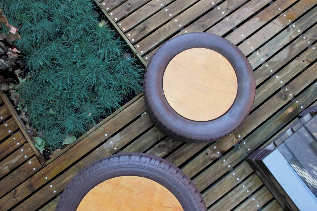 Materialidades de Tallo Taller Industrial Madera Acabado en madera
