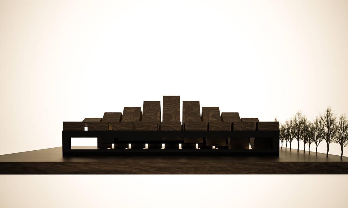 Techos de estilo  por 3D Render, Minimalista Madera Acabado en madera