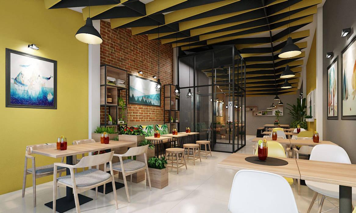 thiết kế nội thất quán cafe:  Phòng giải trí by công ty thiết kế nhà hàng & quán cafe Hiện đại CEEB