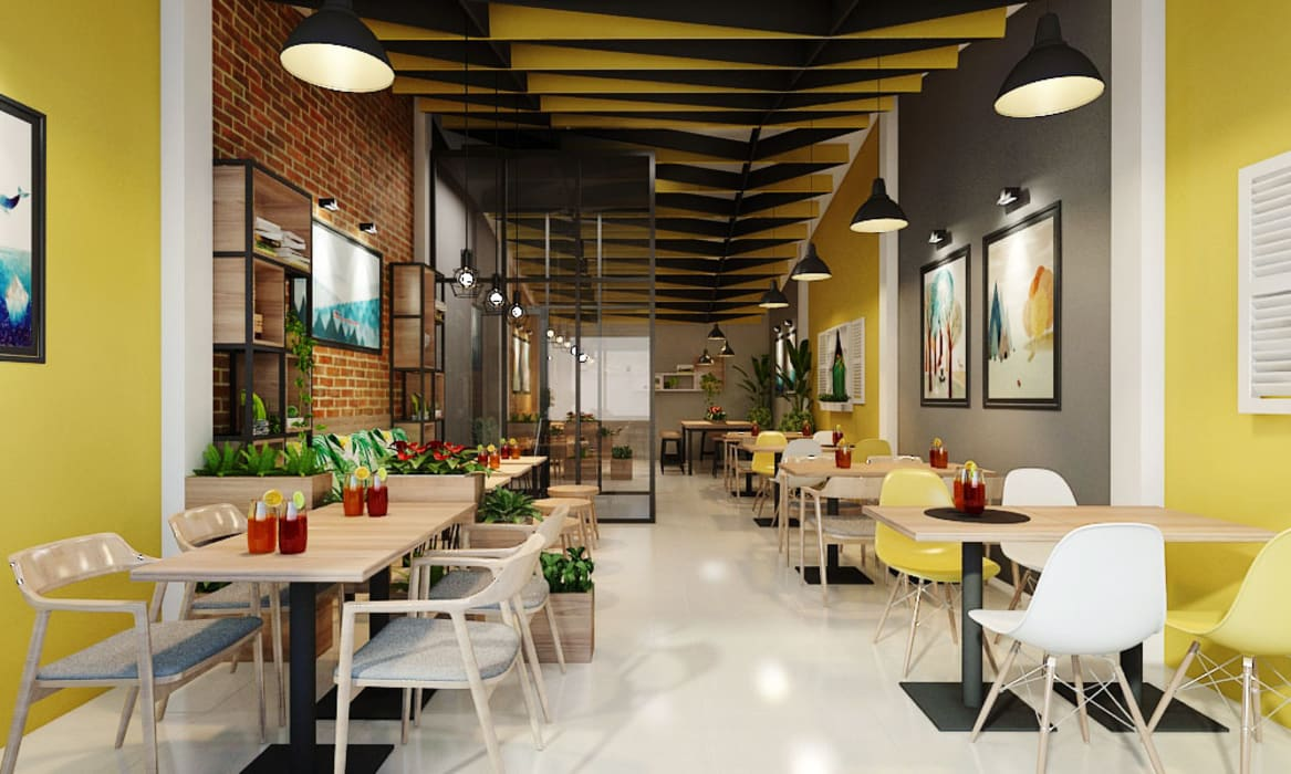 thiết kế nhà hàng Phòng ăn phong cách hiện đại bởi công ty thiết kế nhà hàng & quán cafe Hiện đại CEEB Hiện đại