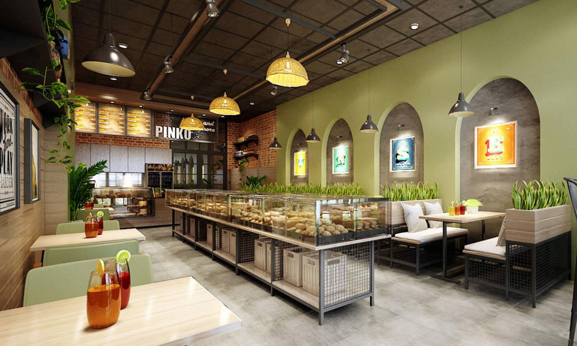 thiết kế nội thất tiệm bánh Phòng ăn phong cách hiện đại bởi công ty thiết kế nhà hàng & quán cafe Hiện đại CEEB Hiện đại
