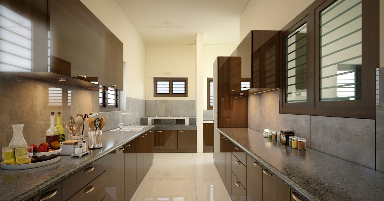 Best Architects & Interior designers in kochi, kerala :  Kitchen by Monnaie Interiors Pvt Ltd