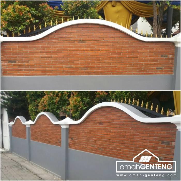 HP/WA: 08122833040 - Bata Ekspos Cibubur - Omah Genteng: Dinding oleh Omah Genteng, Country Batu Bata