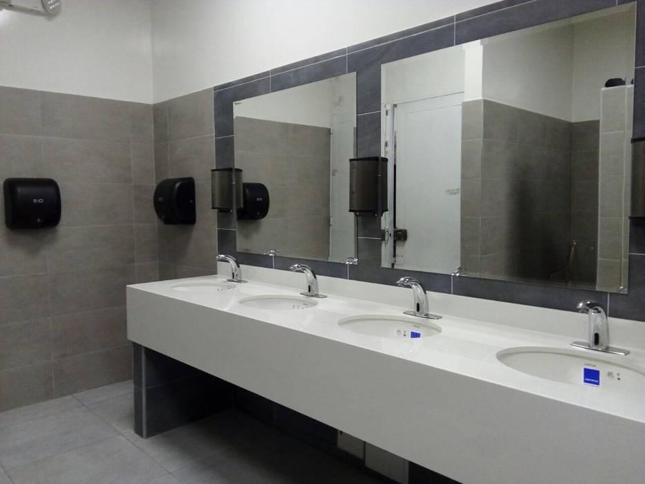 Grifería Sensor Ahorradora de Agua Baños de estilo minimalista de End International Minimalista Aluminio/Cinc