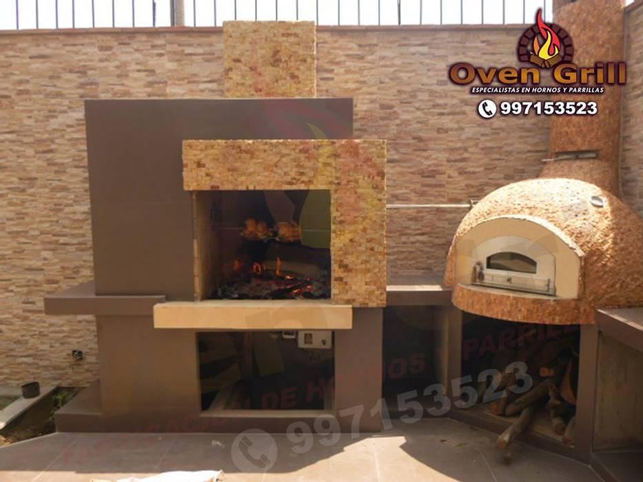 Horno y Parrilla modernos Lima cel:997153523 de Oven grill Minimalista Concreto