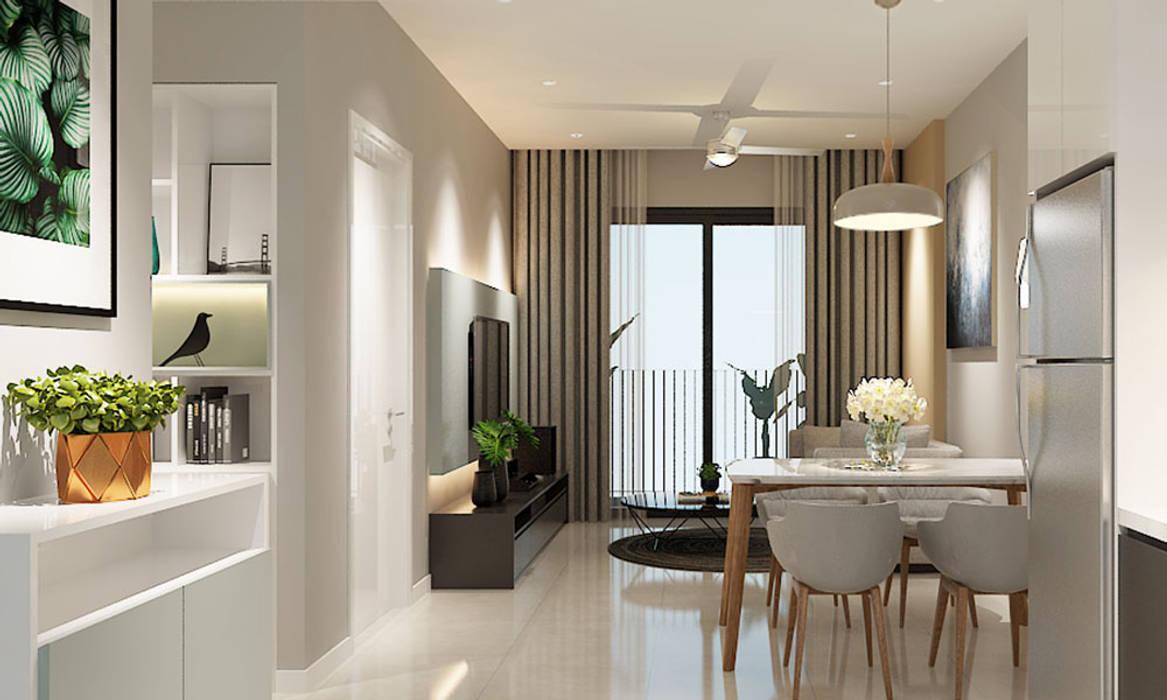 thiết kế nội thất phòng ăn căn hộ Novaland:  Phòng ăn by nội thất căn hộ hiện đại CEEB