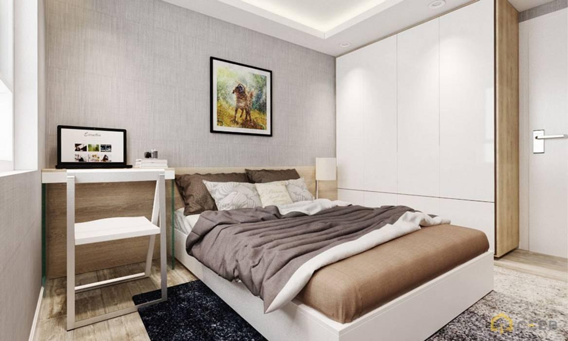 thiết kế phòng ngủ căn hộ Novaland hiện đại Phòng ngủ phong cách hiện đại bởi nội thất căn hộ hiện đại CEEB Hiện đại