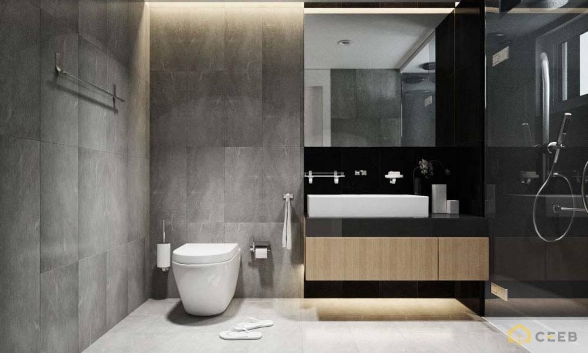 thiết kế nội thất phòng tắm căn hộ sang trọng Novaland Quận 2:  Phòng tắm by nội thất căn hộ hiện đại CEEB
