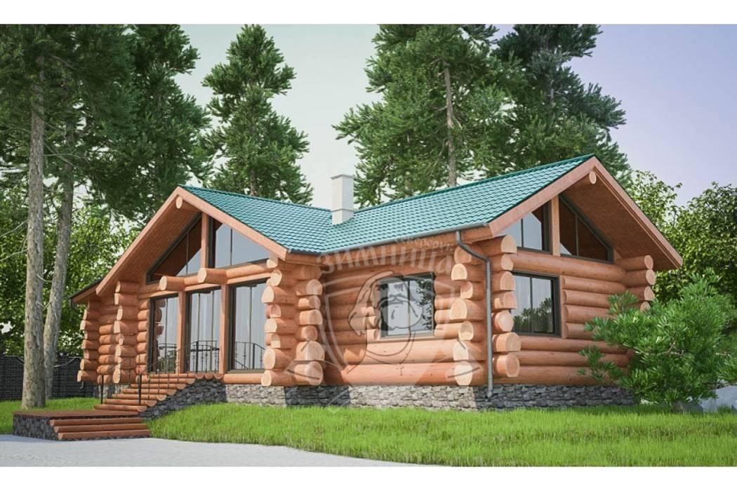 Log cabin by Зимница, Classic Wood Wood effect