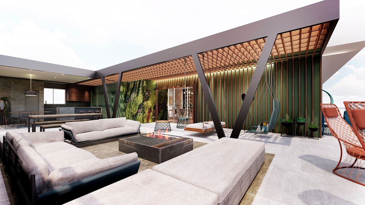 Modern style balcony, porch & terrace by Franthesco Spautz Arquitetura Modern