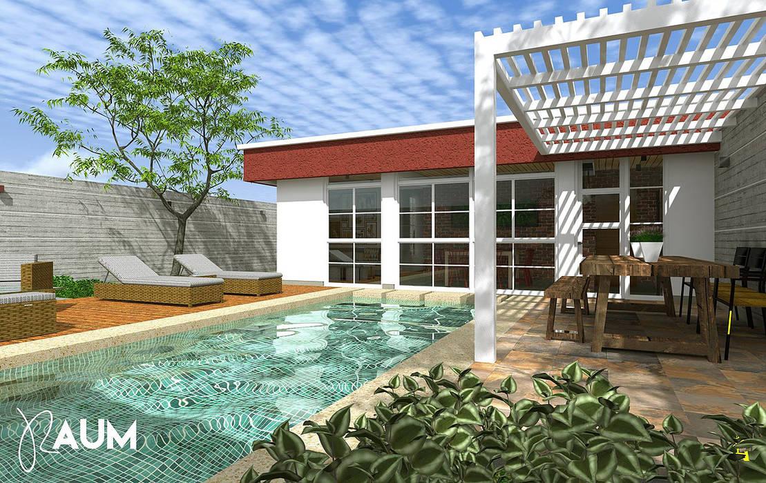 Fachada Frontal - Interior de RAUM Estudio Colonial Concreto