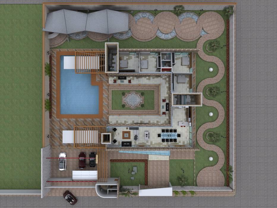 Maqueta virtual de conjunto de Arquitectura & Diseño Mediterráneo