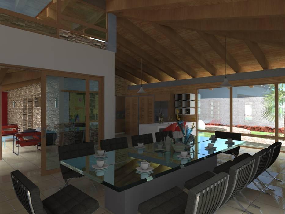 Dining room by Arquitectura & Diseño , Mediterranean Aluminium/Zinc