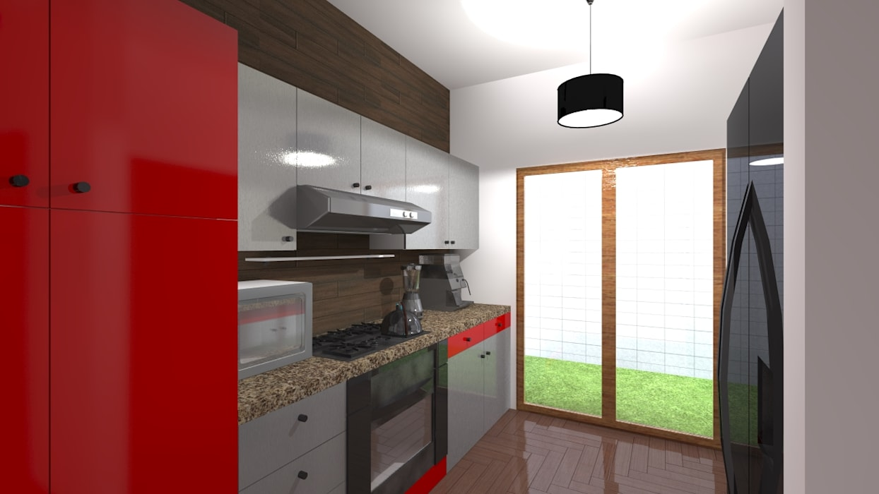 Cocina Patio De Servicio De Arquitectura Diseno Escandinavo