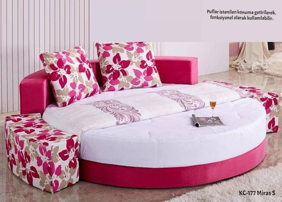 Özyurt Paz.Ltd.Şti. BedroomBeds & headboards Sắt / thép Pink