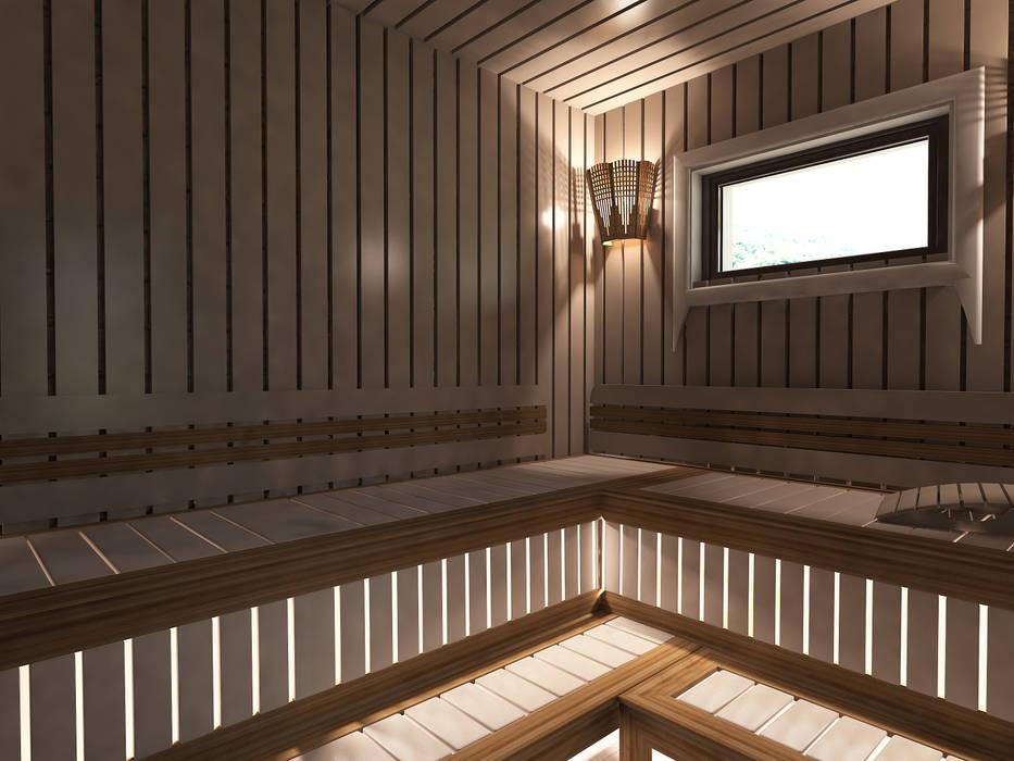 дом из клеенного бруса: Бани в . Автор – Шамисова Анастасия, Эклектичный