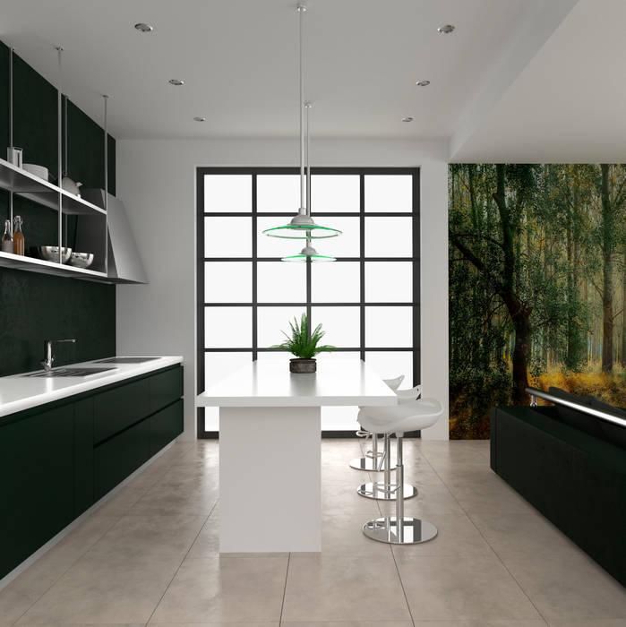 Diseño de interior para residencia privada Salas modernas de Pragma - Diseño Moderno