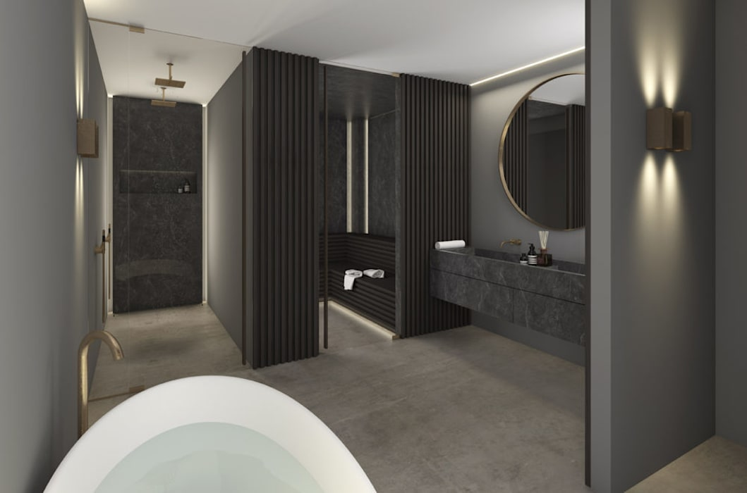 Royal Penthouse Moderne badkamers van Studio Mariska Jagt Modern