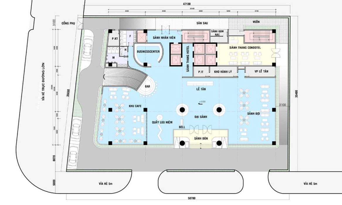 mặt bằng thiết kế khách sạn hiện đại Hạ Long:  Sàn by thiết kế khách sạn hiện đại CEEB,