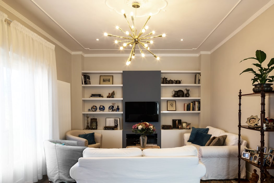 Rifò 现代客厅設計點子、靈感 & 圖片 White