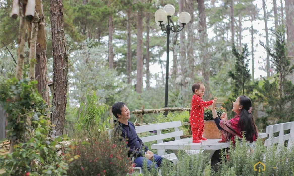 thiết kế sân vườn biệt thự nghỉ dưỡng dalat Vườn phong cách hiện đại bởi thiết kế khách sạn hiện đại CEEB Hiện đại
